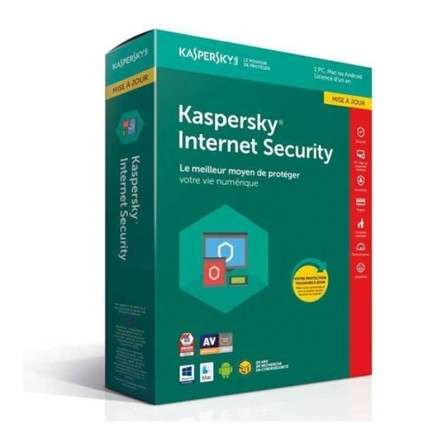 Kaspersky internet security 2019 - 1 an / 3 postes