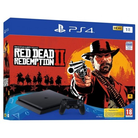 PS4 Slim 1 To noir + Red Dead Redemption 2