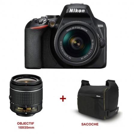 Appareil Photo Réflex Numérique Nikon D3300 + Objectif Nikkor 18-144mm + Objectif Nikkor 55-200mm + Trépied ou Sacoche