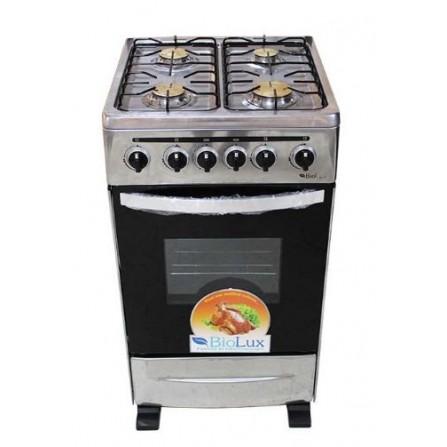 Biolux cuisiniére Inox 4 feux