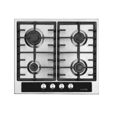 Plaque de cuisson Elleti 4 feux avec fonte 60cm Inox (35220CD)