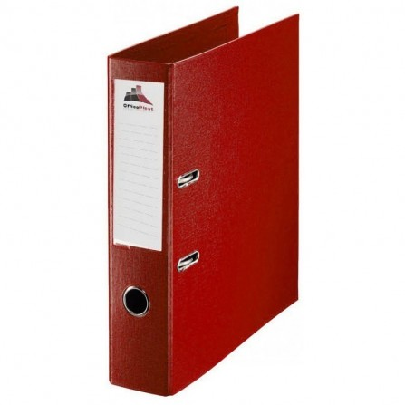 Classeur à levier OfficePlast PLASTIPAP Dos 75mm A4 - Rouge