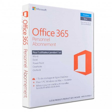 Microsoft Office 365 Personnel 1 an Français (QQ2-00890)