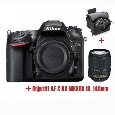 Appareil Photo Réflex Numérique Nikon D7200 + Obj Nikkor 18-140mm