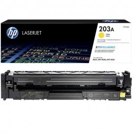 Toner original LaserJet CF542A,Pour HP 203A - Jaune
