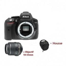 Appareil Photo Réflex Numérique Nikon D5300 + Objectif Nikkor 18-55MM + Trépied