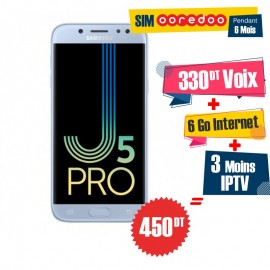 Téléphone Portable Samsung Galaxy J5 Pro / 4G / Bleu + 3 Mois IPTV Offert