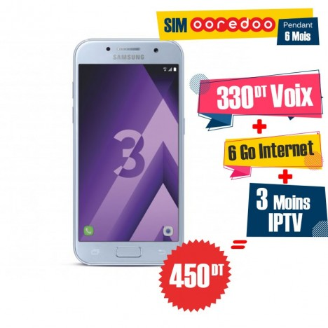 Téléphone Portable Samsung Galaxy A3 2017 / 4G / Blue