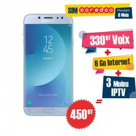 Téléphone Portable Samsung Galaxy J7 Pro / 4G / Bleu + 1 Mois IPTV Offert