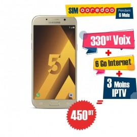 Téléphone Portable Samsung Galaxy A5 2017 / 4G / Gold + 1 Mois IPTV Offert