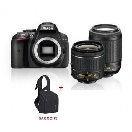 Appareil Photo Réflex Numérique Nikon D5300 + Obj Nikkor AF-P DX 55-200 VR +obj AF-P DX 18-55 VR