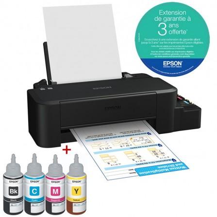 Imprimante Epson L120 à réservoir intégré + 4 Bouteilles / Garantie 3 ans