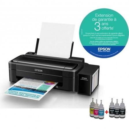 Imprimante Epson à réservoir intégré Couleur L310 + 6 Bouteilles d'encre
