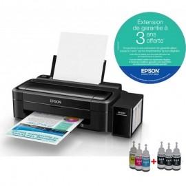 Imprimante Epson L310 à réservoir intégré Couleur + 6 Bouteilles d'encre