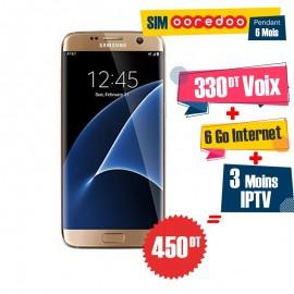 Smartphone Samsung Galaxy S7 Edge Gold + gratuité 165Dt