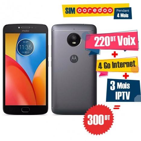 Smartphone Motorola Moto E4 / 4G / Bleu + 1 Mois IPTV