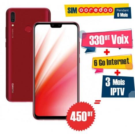 Prix Smartphone Huawei Y9 2019 Rouge Hu Y9 Red Tunisie Technopro