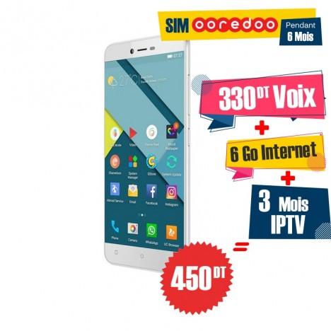Téléphone Portable Condor P8 Lite / Double SIM / Blanc + Gratuité 55 DT