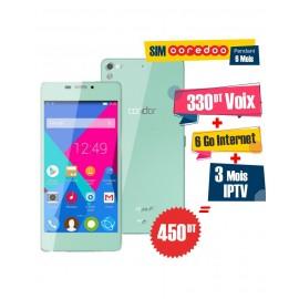 Téléphone Portable Condor Allure A9 / 3G / Vert + 1 Mois IPTV