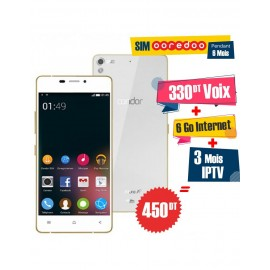 Téléphone Portable Condor Allure A9 / 3G / Blanc + 1 Mois IPTV