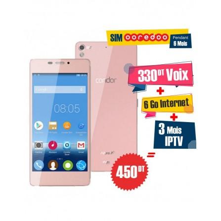 Téléphone Portable Condor Allure A9 / 3G / Pink + 1 Mois IPTV