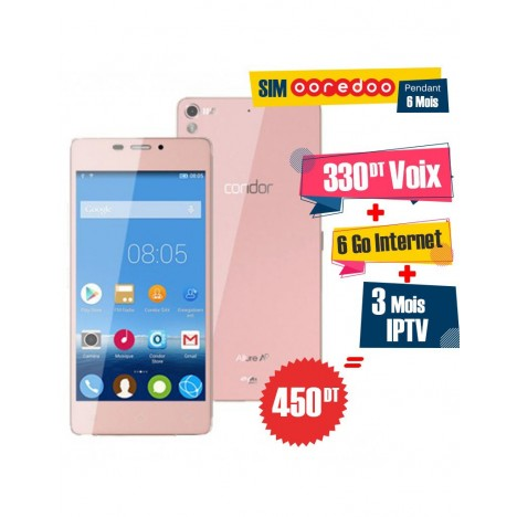 Téléphone Portable Condor Allure A9 / 3G / Pink