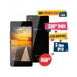 Téléphone Portable Condor Allure A9 / 3G / Noir + 1 Mois IPTV