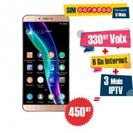 Téléphone Portable Condor Allure A55 Slim / 4G / Gold + 1 Mois IPTV Offert