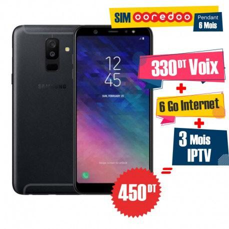 Samsung A6 Plus 64go 4g Noir Sm A605fh Black Tunisie Technopro