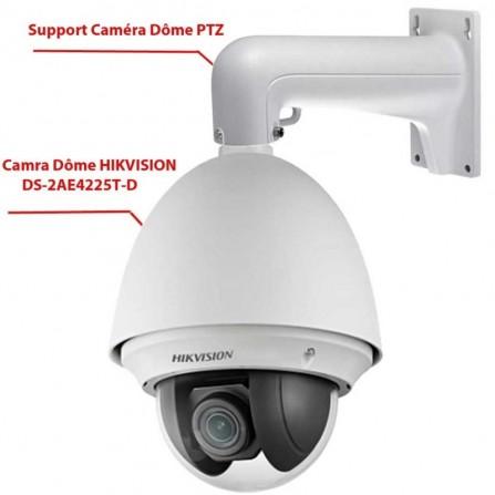 Caméra de Surveillance Speed Dôme HIKVISION DS-2AE4225T-D 2MP Turbo