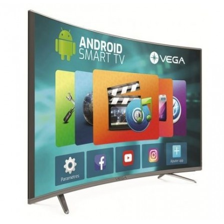 "TÉLÉVISEUR VEGA LED 65"" CURVED SMART 4K / WIFI / ANDROID / GRIS"