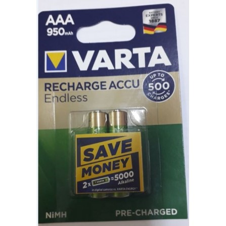 pile VARTA rechargeable ENDLESS LR3 BP2 950mAh