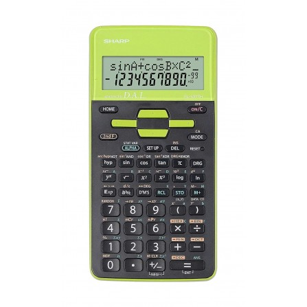 Calculatrice Scientifique Sharp vert (EL-531THB-GR)