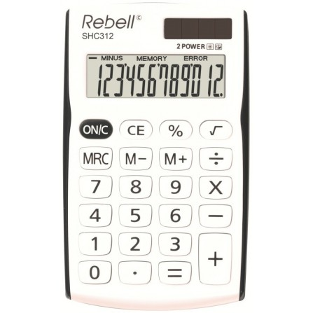 Calculatrice Rebell SHC312 (RE-SHC312BK BX)