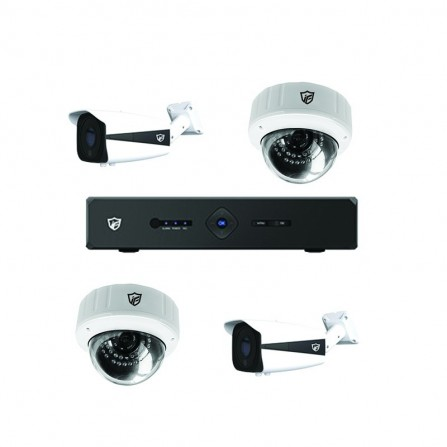 Pack Vidéo Surveillance JF TECH DVR+ 2 Caméra Interne+ 2 Camera Externe