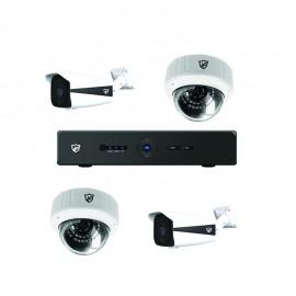 Pack Vidéo Surveillance 2 MP JF TECH DVR + 2 Caméra Interne + 2 Camera Externe