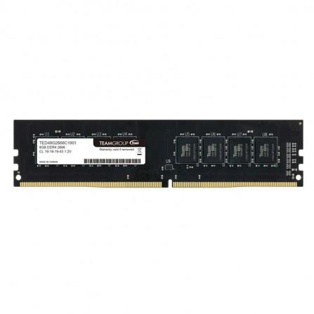 Barrette Mémoire TEAM GROUP 8Go DDR4 Pour PC De Bureau(TED48G2666C19BK)