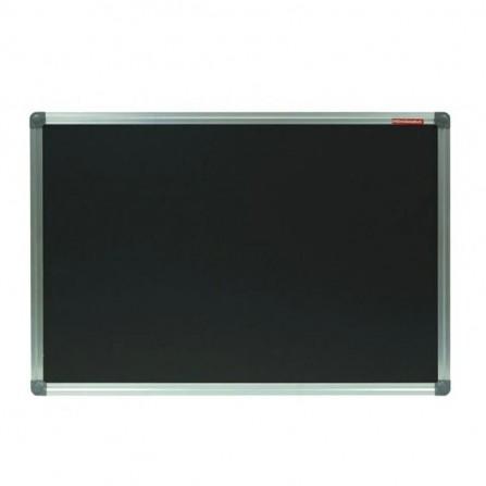 Tableau magnétique a craie MEMOBOARDS avec cadre aluminium 120 x 90 cm - Noir ( TMC129ALC)