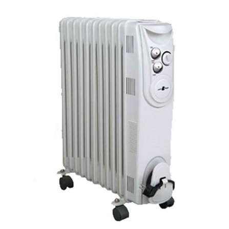 Radiateur bain d'huile Coala 11 éléments 2500 Watt - Blanc (BH25N)