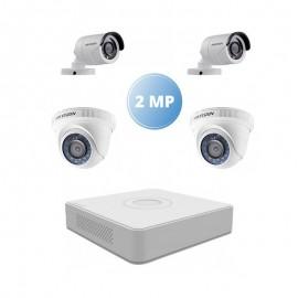 Pack Vidéo Surveillance Hikvision 2 MP DVR+ 2 Caméra Interne 2MP + 2 Camera Externe 2MP