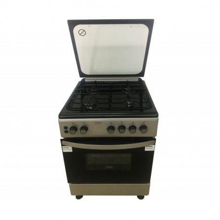 Cuisinière à gaz SEG 4 feux 60cm - Noir (FG6402GBZB)