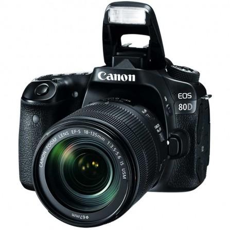 Appareil Photo Reflex CANON EOS 80D Noir (CANON-EOS80DW)