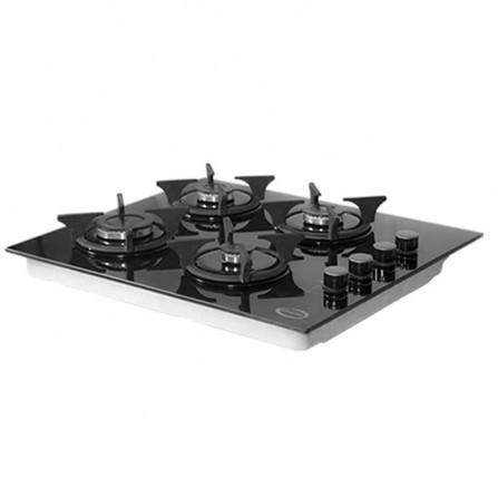 Plaque Encastrable ORIENT 4 feux noir (OP-4F-VN2)