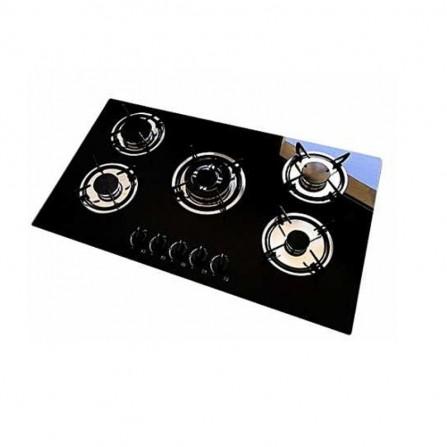 Plaque de Cuisson ORIENT verre 5 Feux 90 cm Noir (OP-90-VN)
