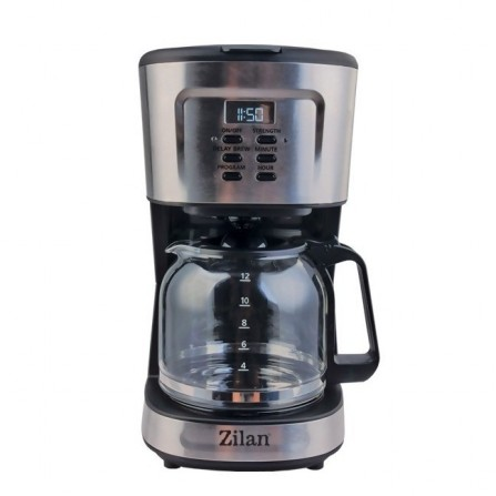 Cafetière électrique 12 tasses Zilan 900 Watt - Noir et Inox (ZLN1440)