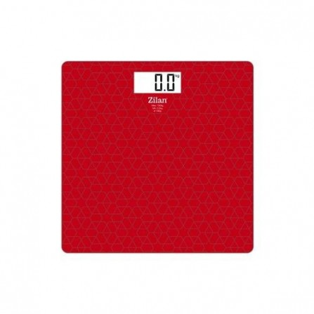 Pèse-personne Zilan - Rouge (ZLN7680)
