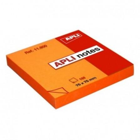 Bloc notes APLI 75x75 orange brillant 100 feuilles