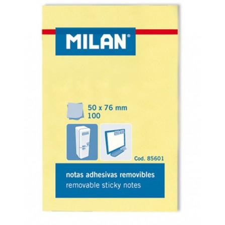 Notes Autocollantes MILAN 50x76 jaune 100 SHEETS
