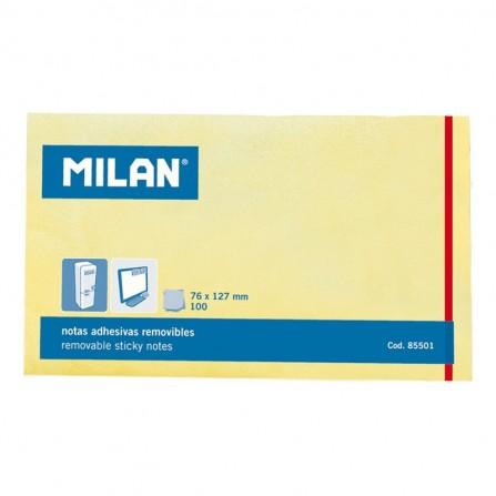 Notes Autocollantes MILAN 127x76 jaune 100 SHEETS