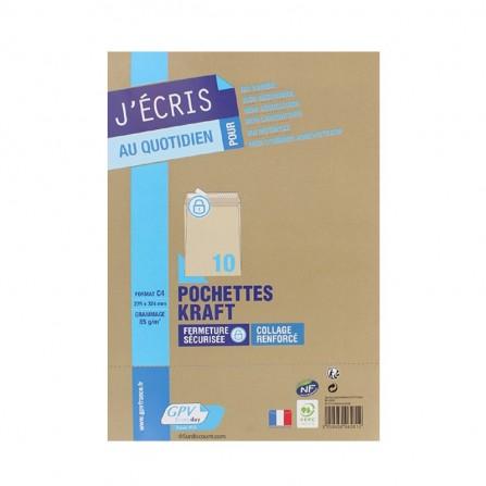 10 POCHETTES 162X229 AA  KRAFT  90G